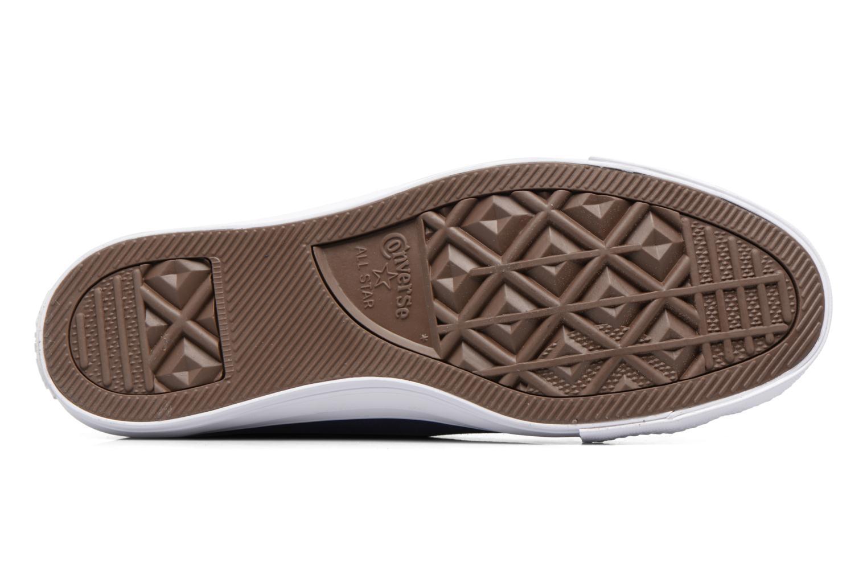 Sneaker Converse Chuck Taylor All Star Plush Suede Hi blau ansicht von oben