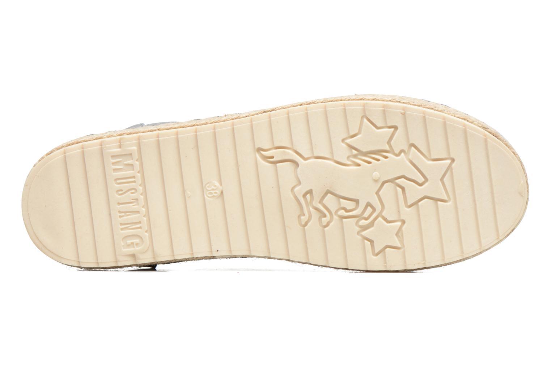 Espadrilles Mustang shoes Padrille Gris vue haut