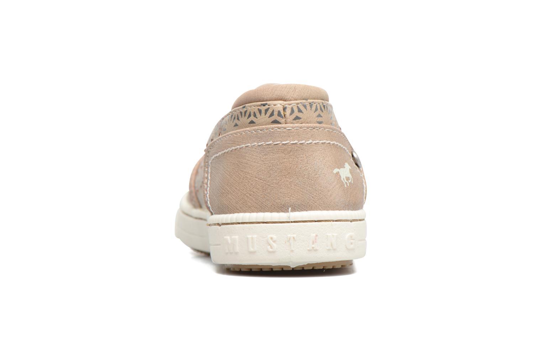 Baskets Mustang shoes Artysa Beige vue droite