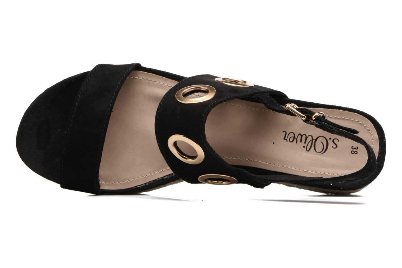 Sandales et nu-pieds S.Oliver Rocky Noir vue gauche