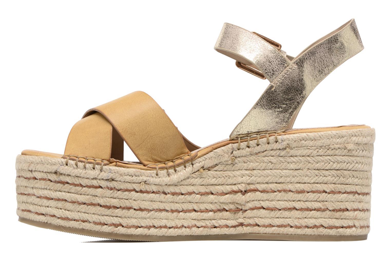 Sandales et nu-pieds S.Oliver Camila Marron vue face