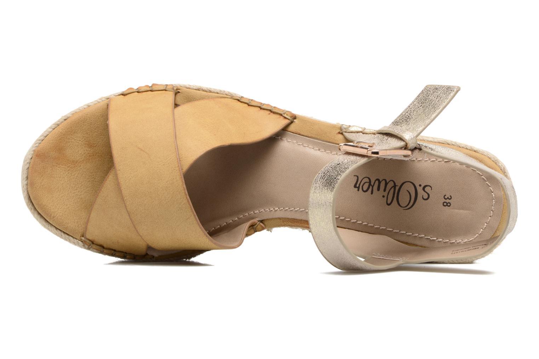 Sandales et nu-pieds S.Oliver Camila Marron vue gauche