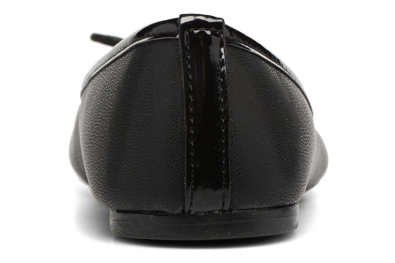 Ballerine bi matières Noir