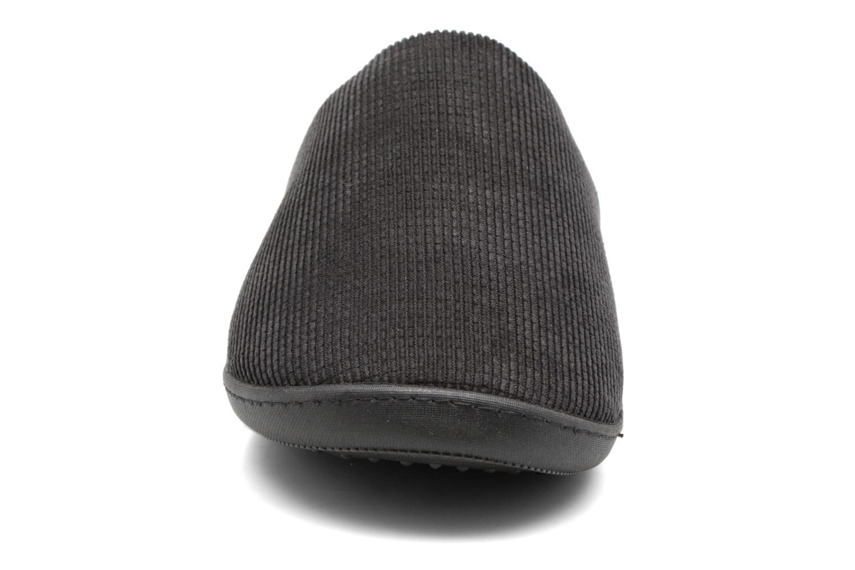 Mule ergonomique côtelé Isotoner Noir velours aXwqqFY