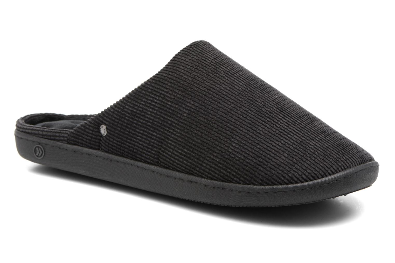 Marques Chaussure homme Isotoner homme Mule ergonomique velours c?telé Noir 2