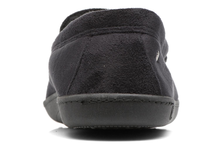 Chaussons Isotoner Mocassin ergonomique suédine Noir vue droite