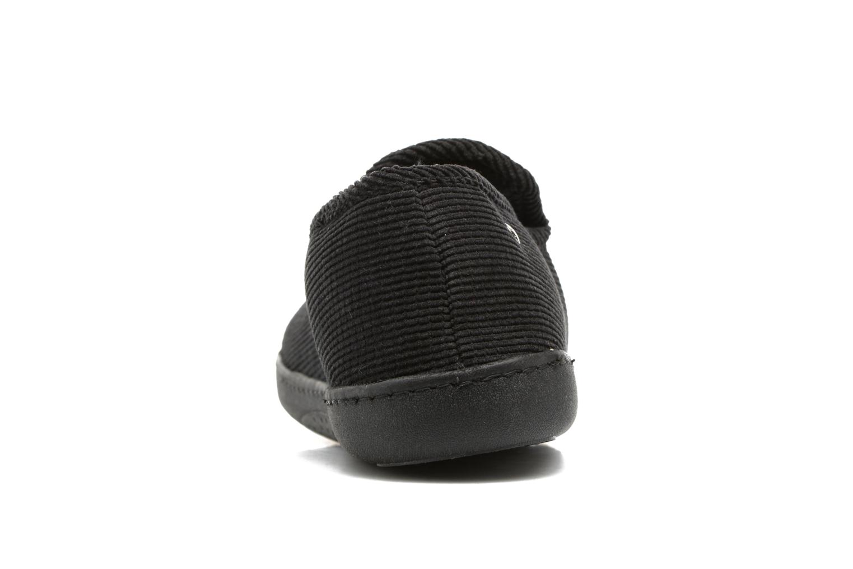Charentaise ergonomique velours côtelé Noir