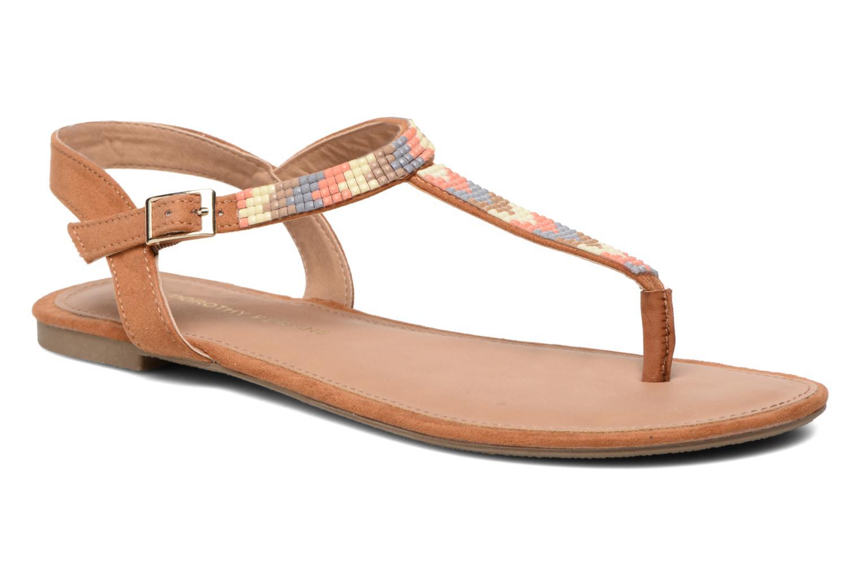 Sandales et nu-pieds Dorothy Perkins Fire Marron vue détail/paire