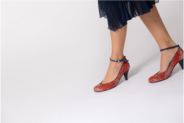 Zapatos de tacón Annabel Winship Queen Rojo vista de abajo
