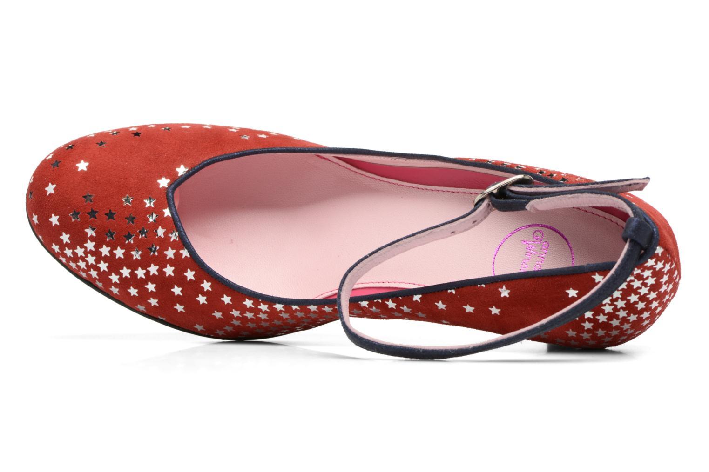 Zapatos de tacón Annabel Winship Queen Rojo vista lateral izquierda