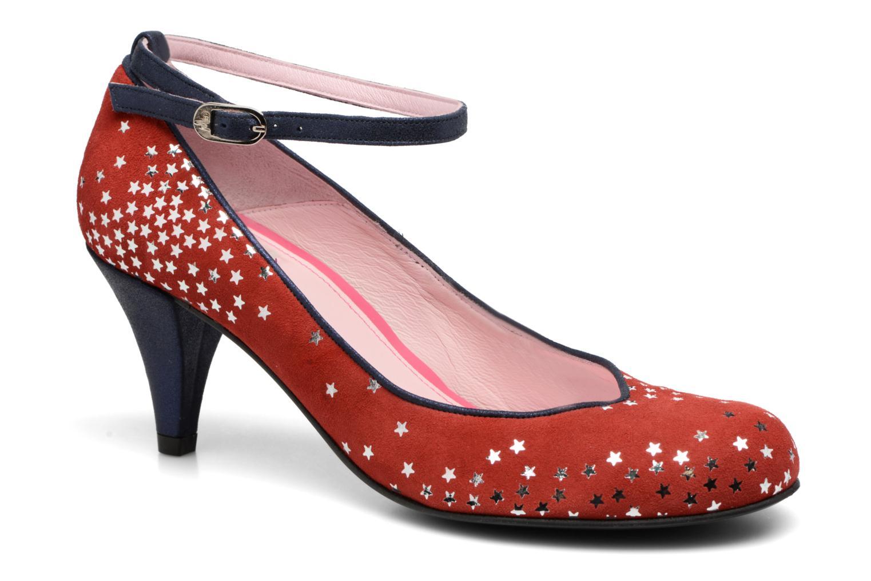 Zapatos de tacón Annabel Winship Queen Rojo vista de detalle / par