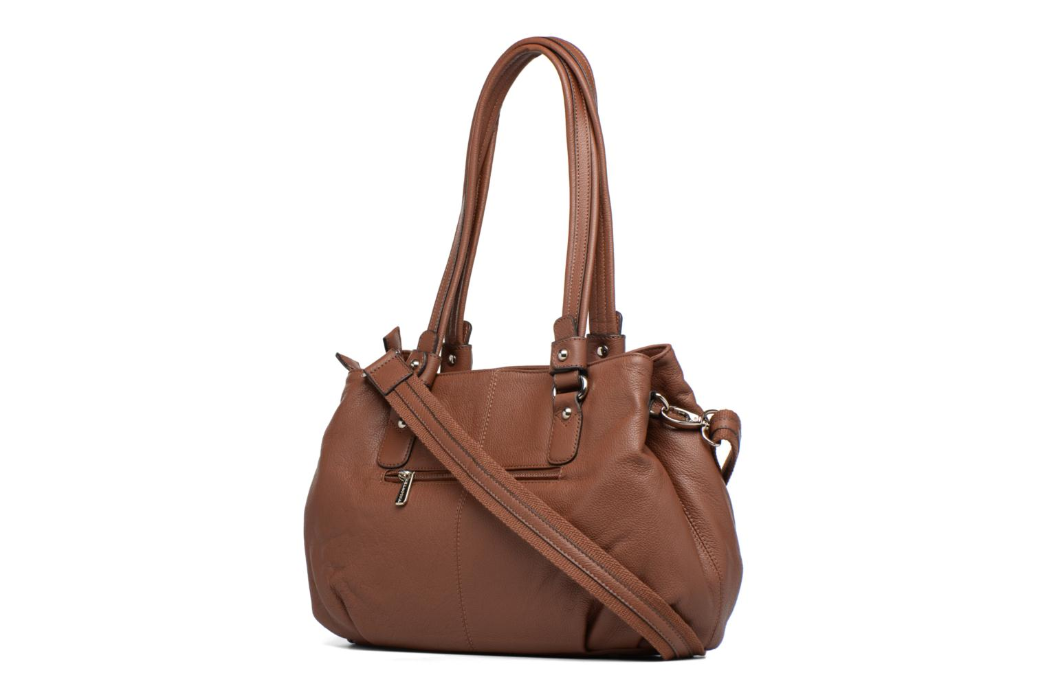 Handbags Hexagona Ovale Brown view from the right