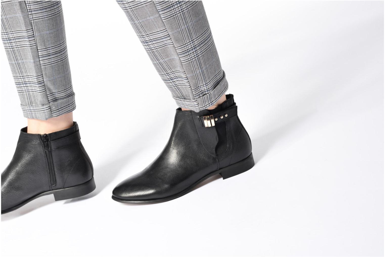 Bottines et boots Georgia Rose Aplati Marron vue bas / vue portée sac