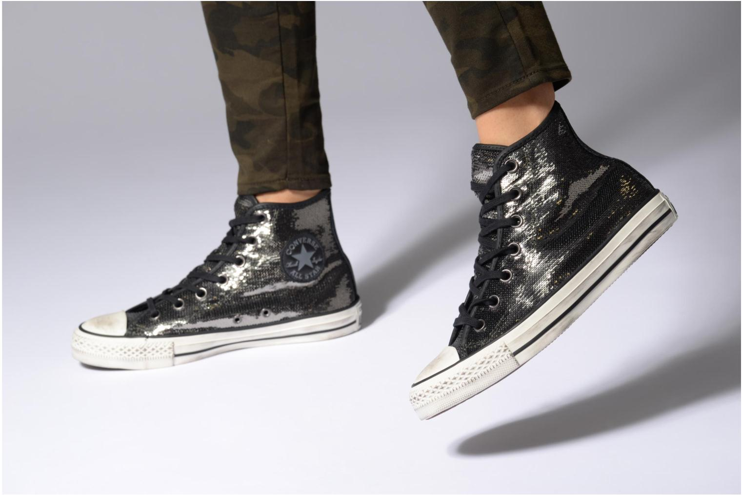 Baskets Converse Chuck Taylor All Star Distressd Hi Or et bronze vue bas / vue portée sac