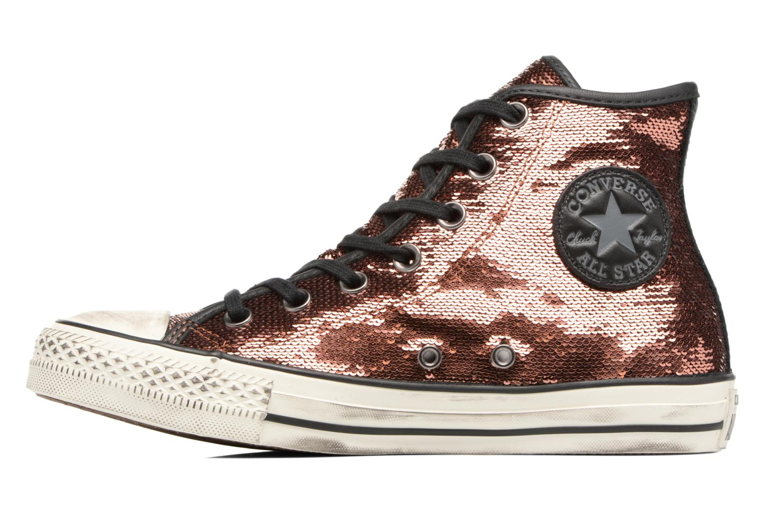 Baskets Converse Chuck Taylor All Star Distressd Hi Or et bronze vue face