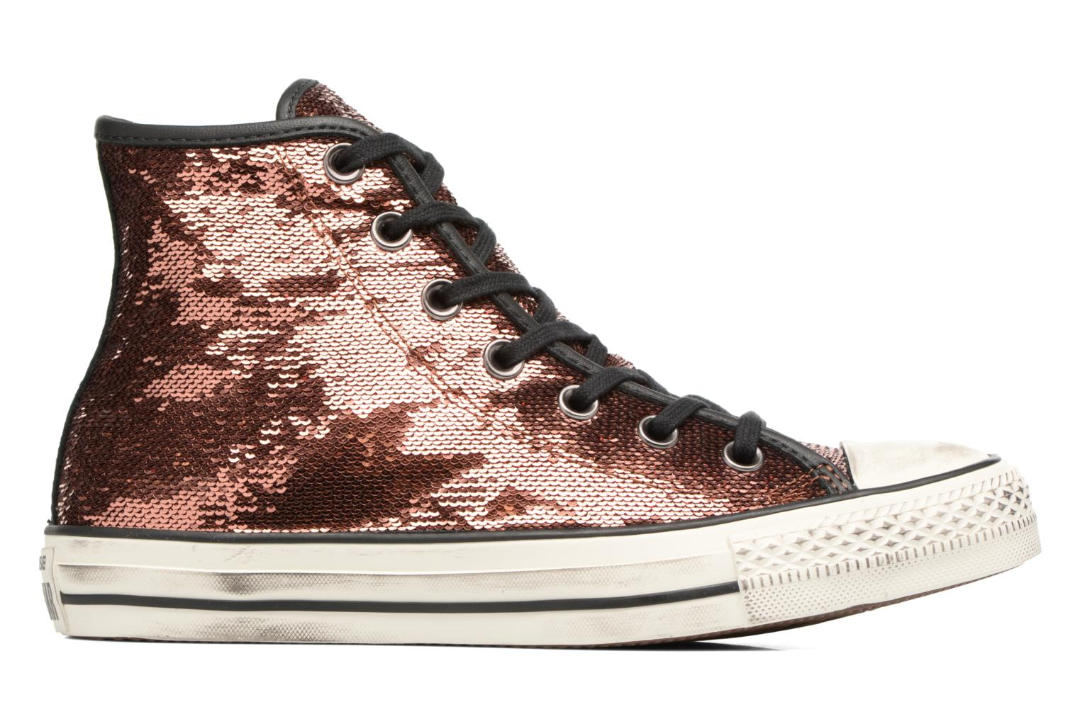 Baskets Converse Chuck Taylor All Star Distressd Hi Or et bronze vue derrière