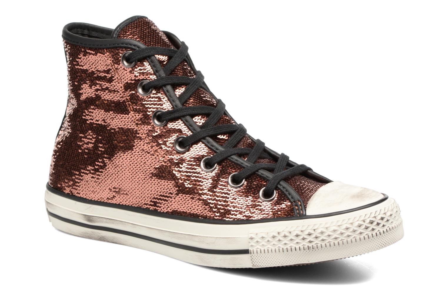Baskets Converse Chuck Taylor All Star Distressd Hi Or et bronze vue détail/paire