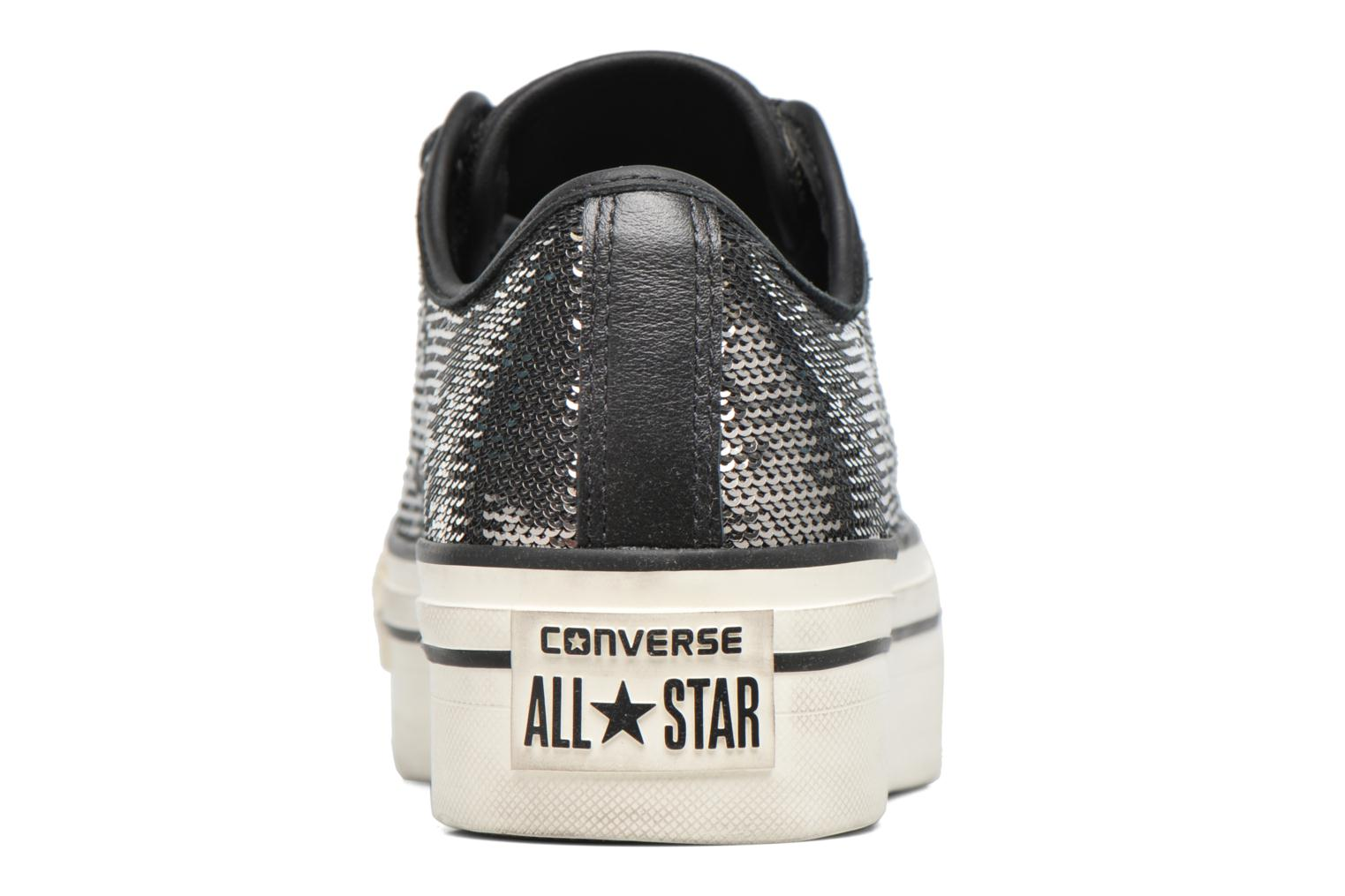Baskets Converse Chuck Taylor All Star Plateform Distressd Ox Gris vue droite