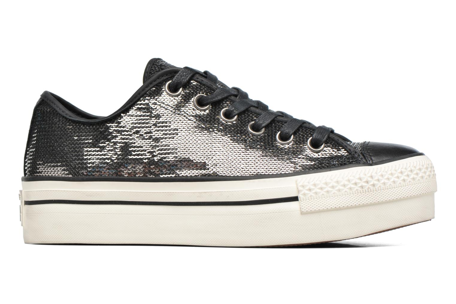 Baskets Converse Chuck Taylor All Star Plateform Distressd Ox Gris vue derrière