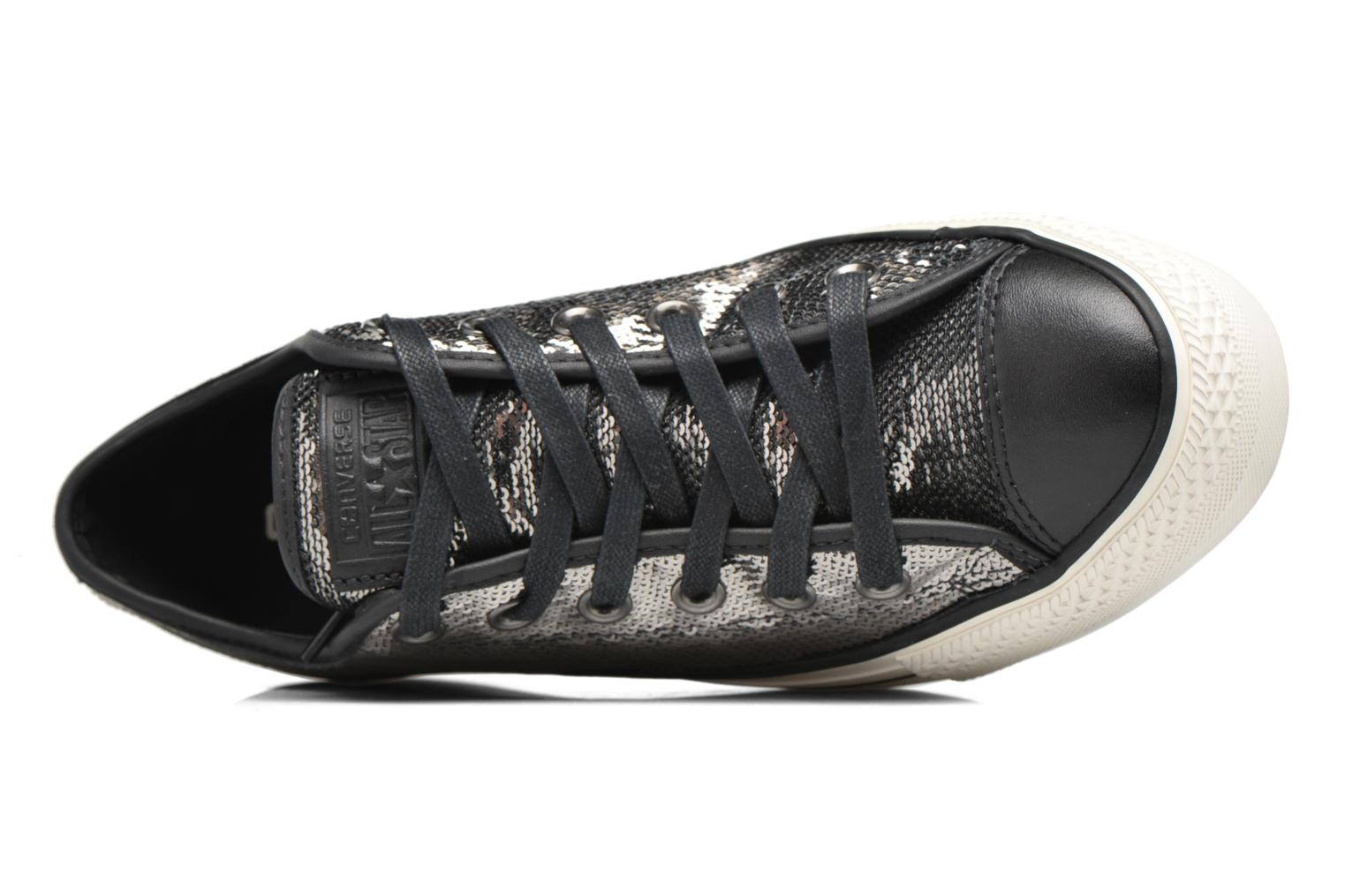 Baskets Converse Chuck Taylor All Star Plateform Distressd Ox Gris vue gauche