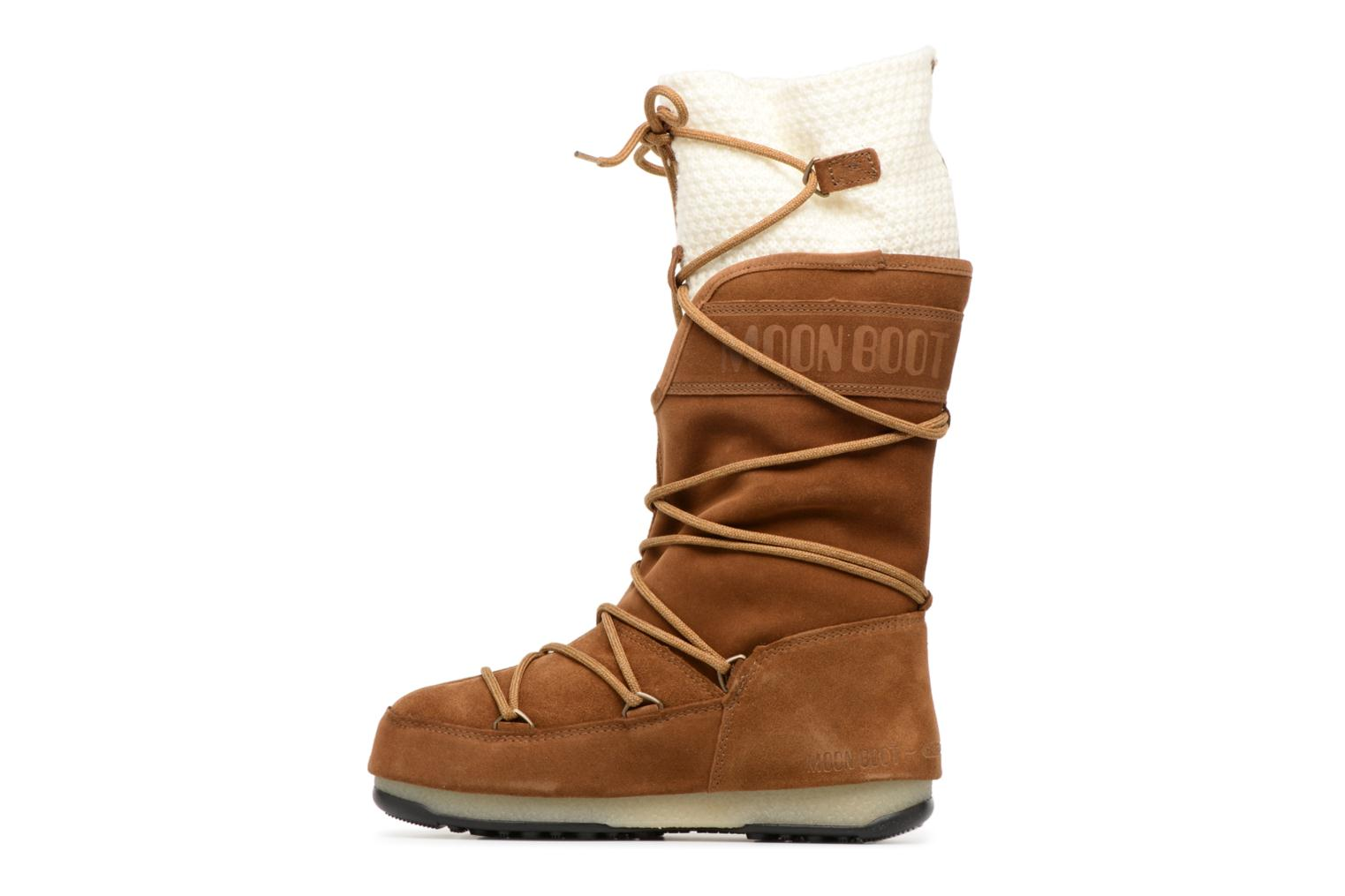 Chaussures de sport Moon Boot We anversa wool Marron vue face