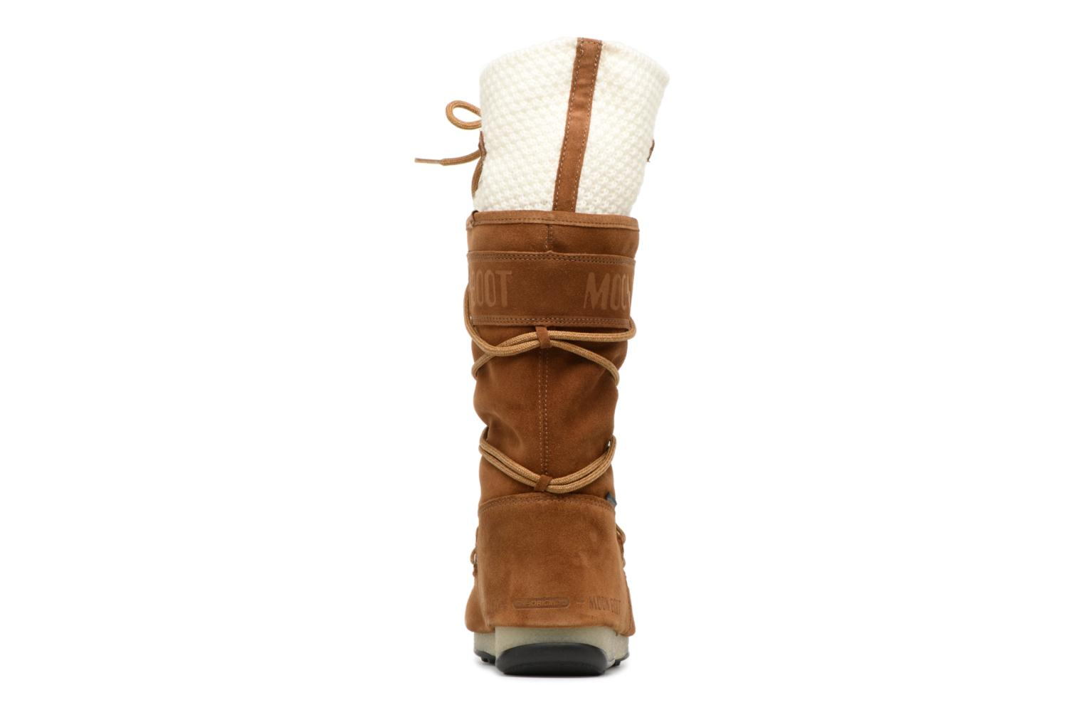 Sport shoes Moon Boot anversa wool Brown view from the right