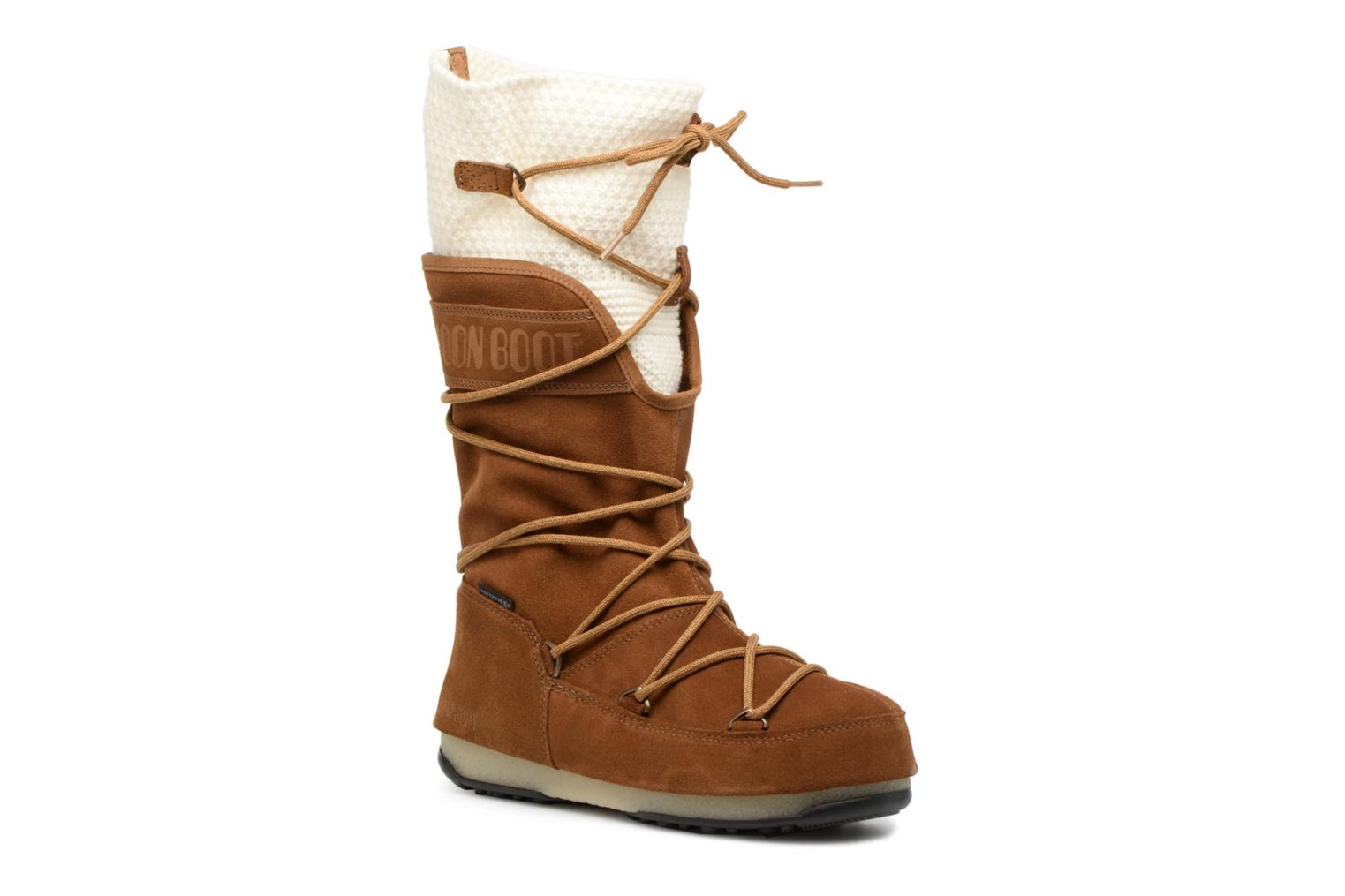 Sport shoes Moon Boot anversa wool Brown detailed view/ Pair view