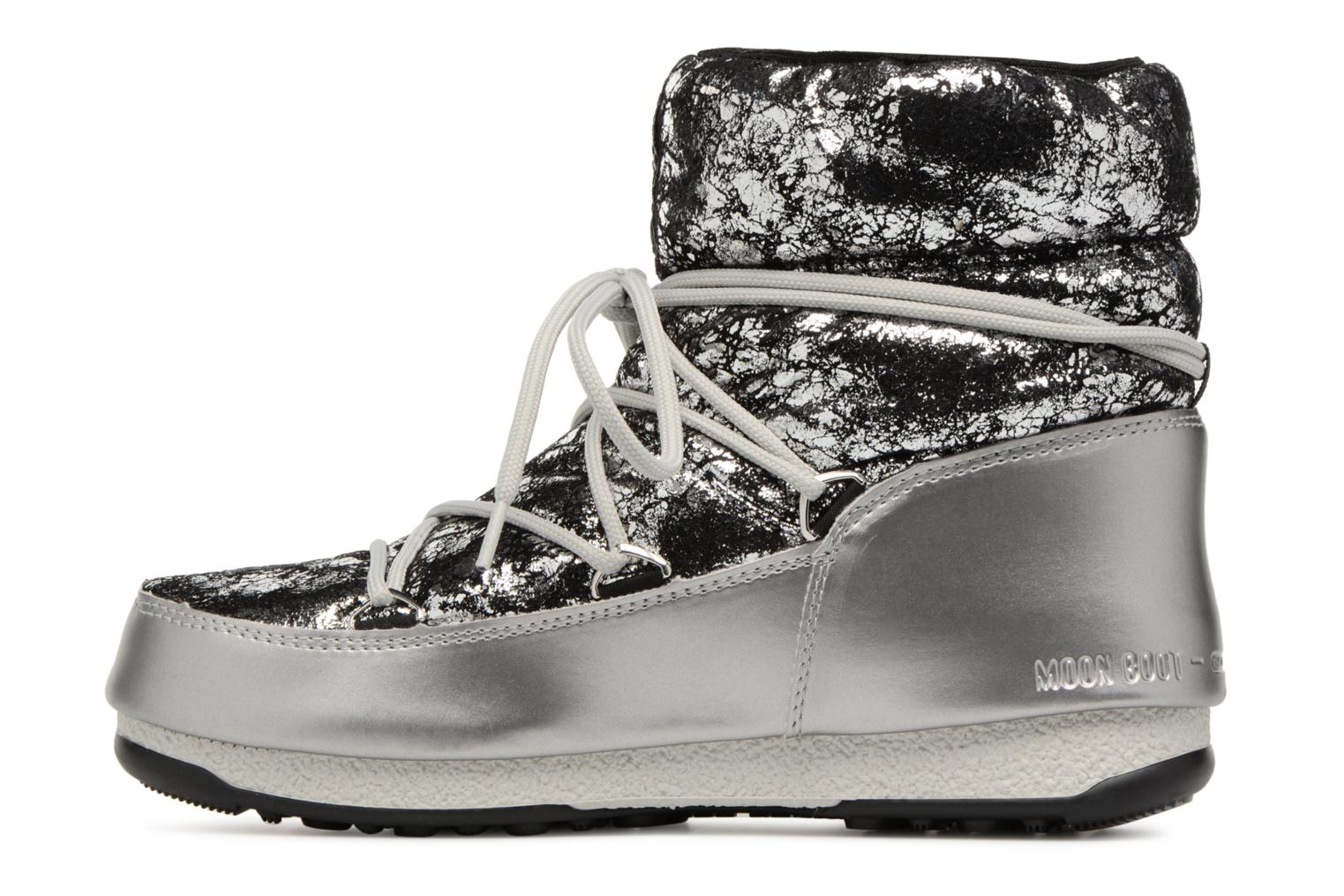 Sport shoes Moon Boot low crackled Silver front view