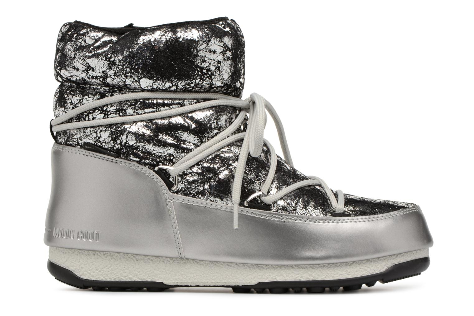 Sport shoes Moon Boot low crackled Silver back view
