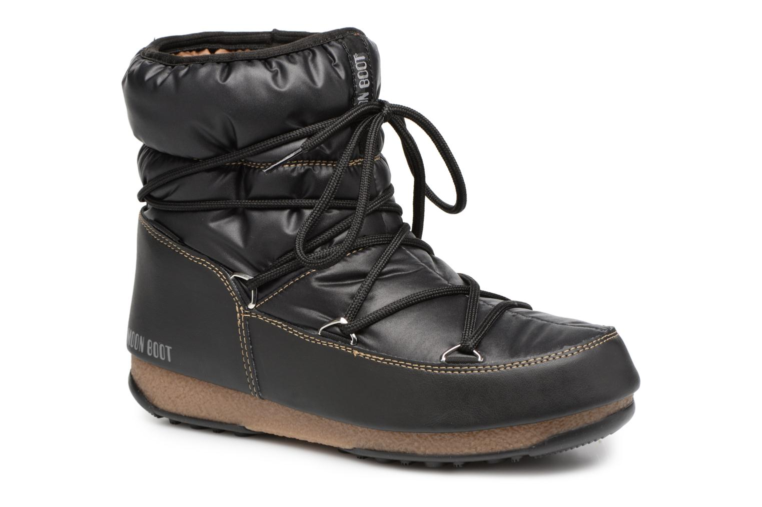 Sport shoes Moon Boot Low Nylon Black detailed view/ Pair view