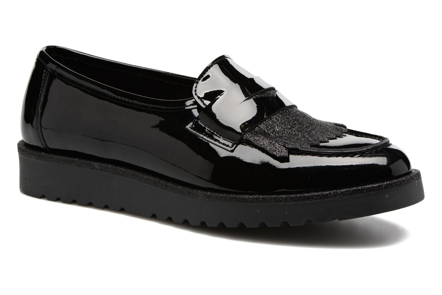 Loafers Georgia Rose Gerald Black detailed view/ Pair view