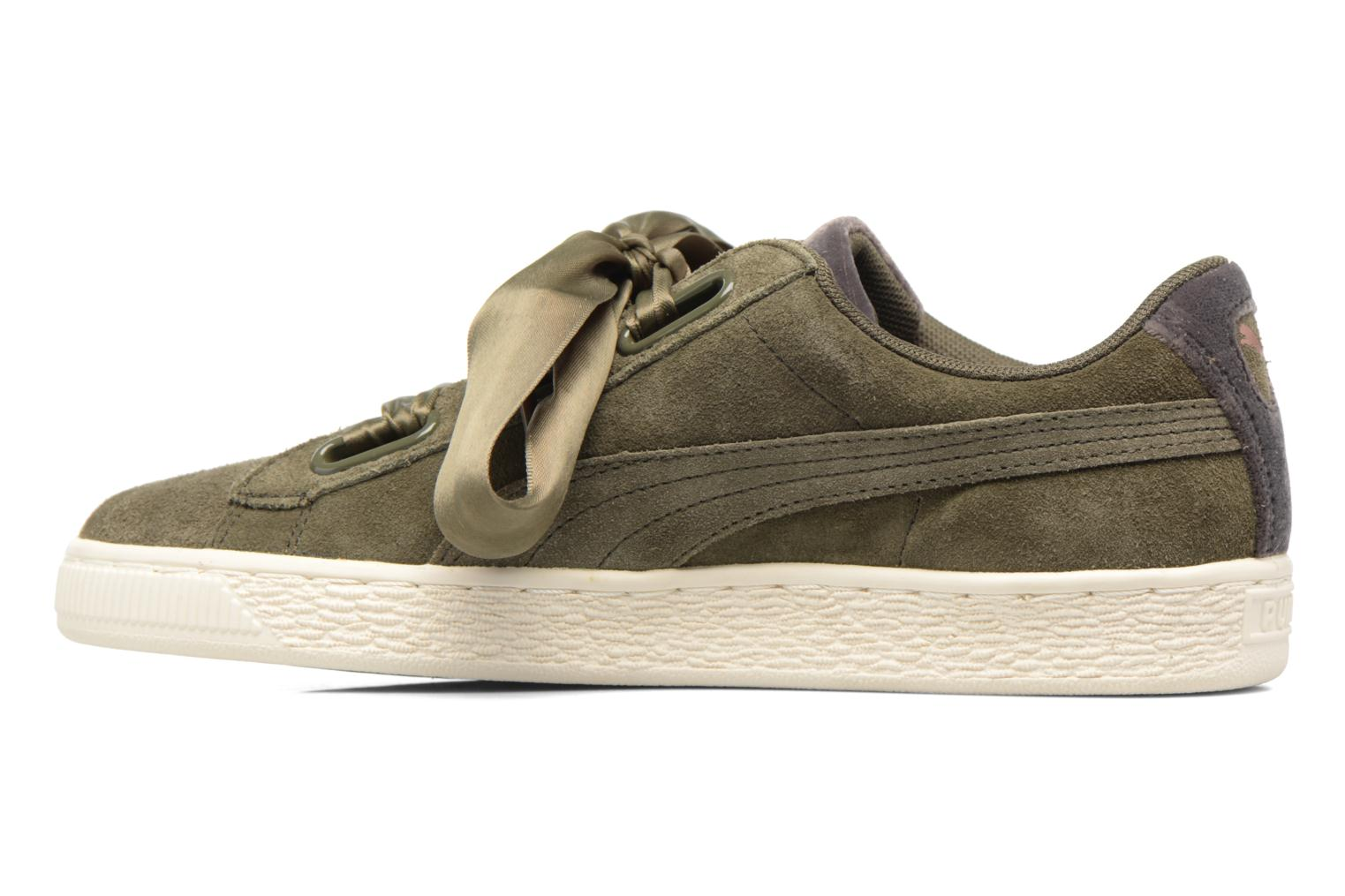 Wns Suede heart Vr olive Ni