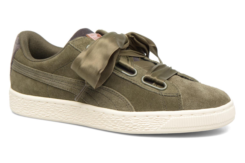 Zapatos promocionales Puma Wns Suede heart Vr (Verde) - Deportivas   Gran descuento