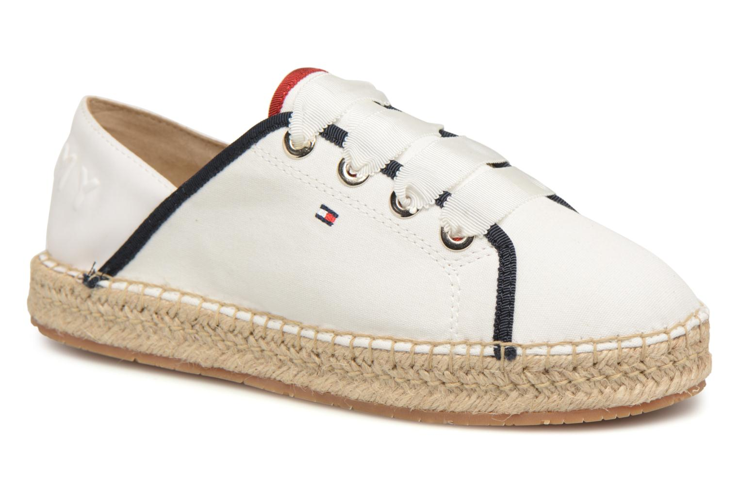 TH METALLIC LACE UP ESPADRILLE White