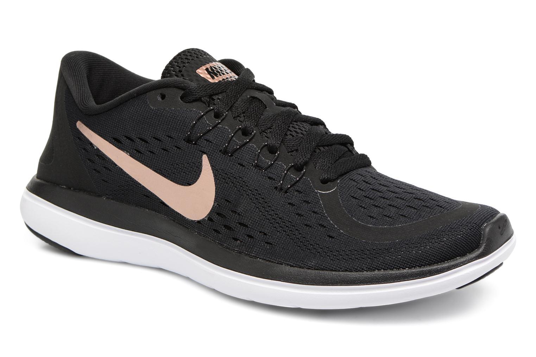 Chaussures de sport Nike Wmns Nike Flex 2017 Rn Noir vue détail/paire