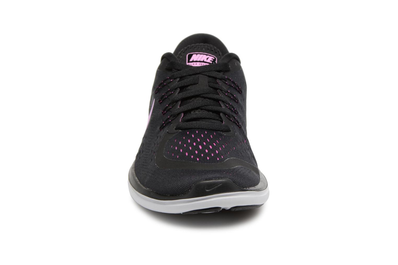 Wmns Nike Flex 2017 Rn Black/Fuchsia Glow-Hyper Magenta