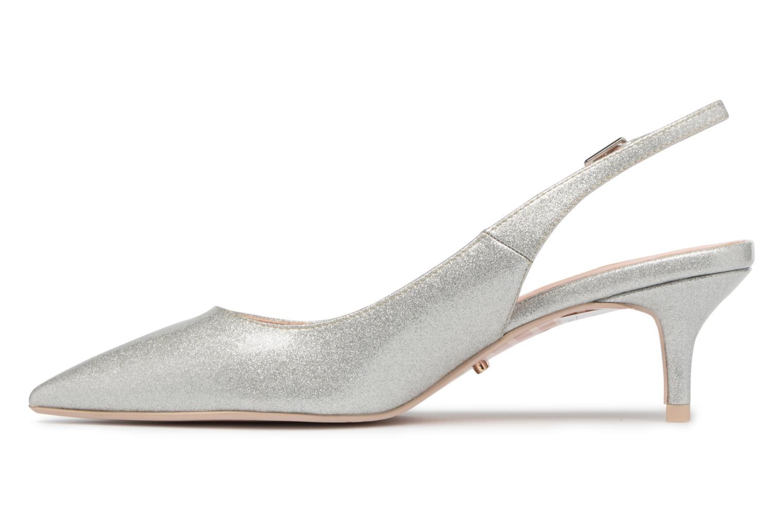 High heels Dune London CASANDRA Silver front view