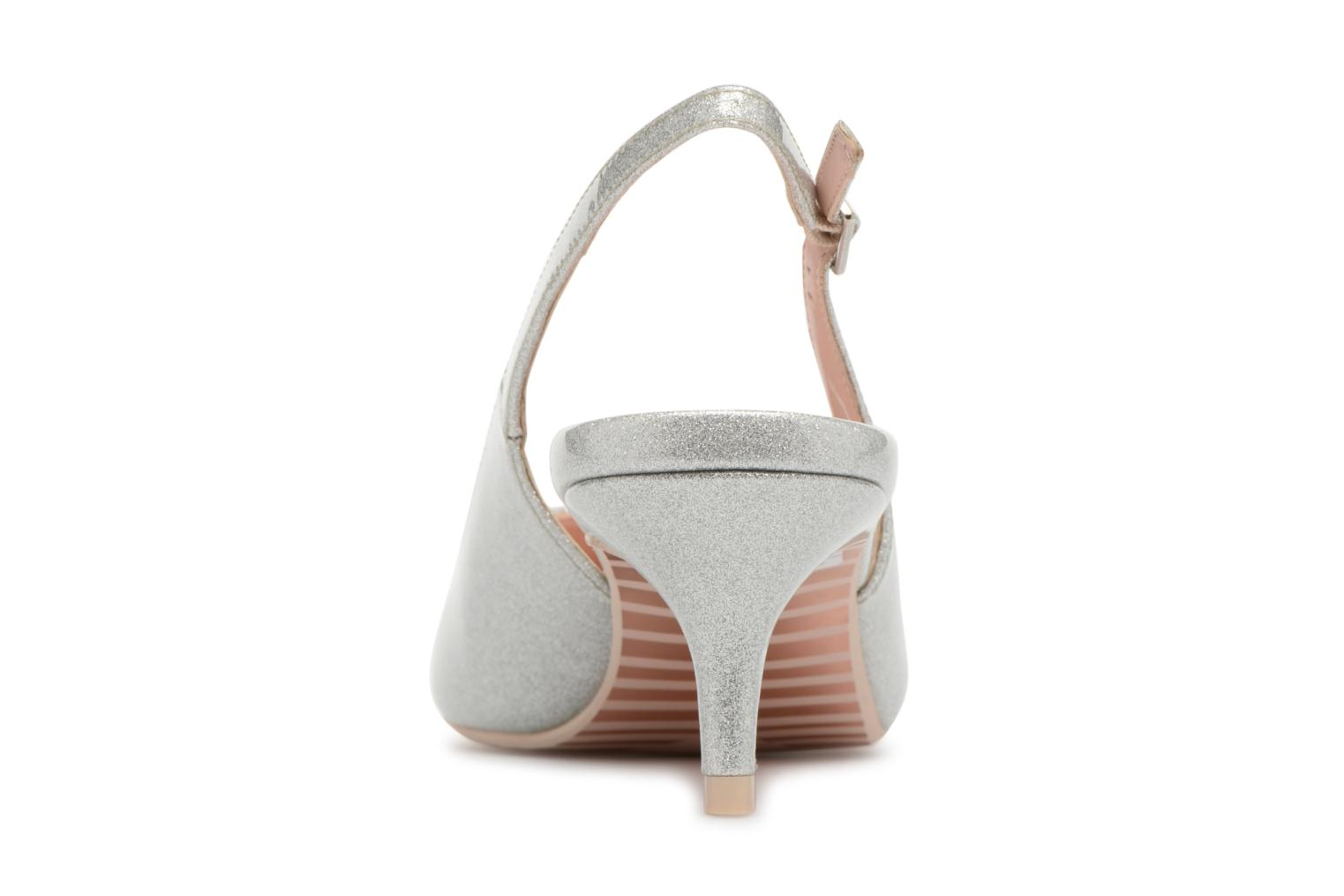 High heels Dune London CASANDRA Silver view from the right