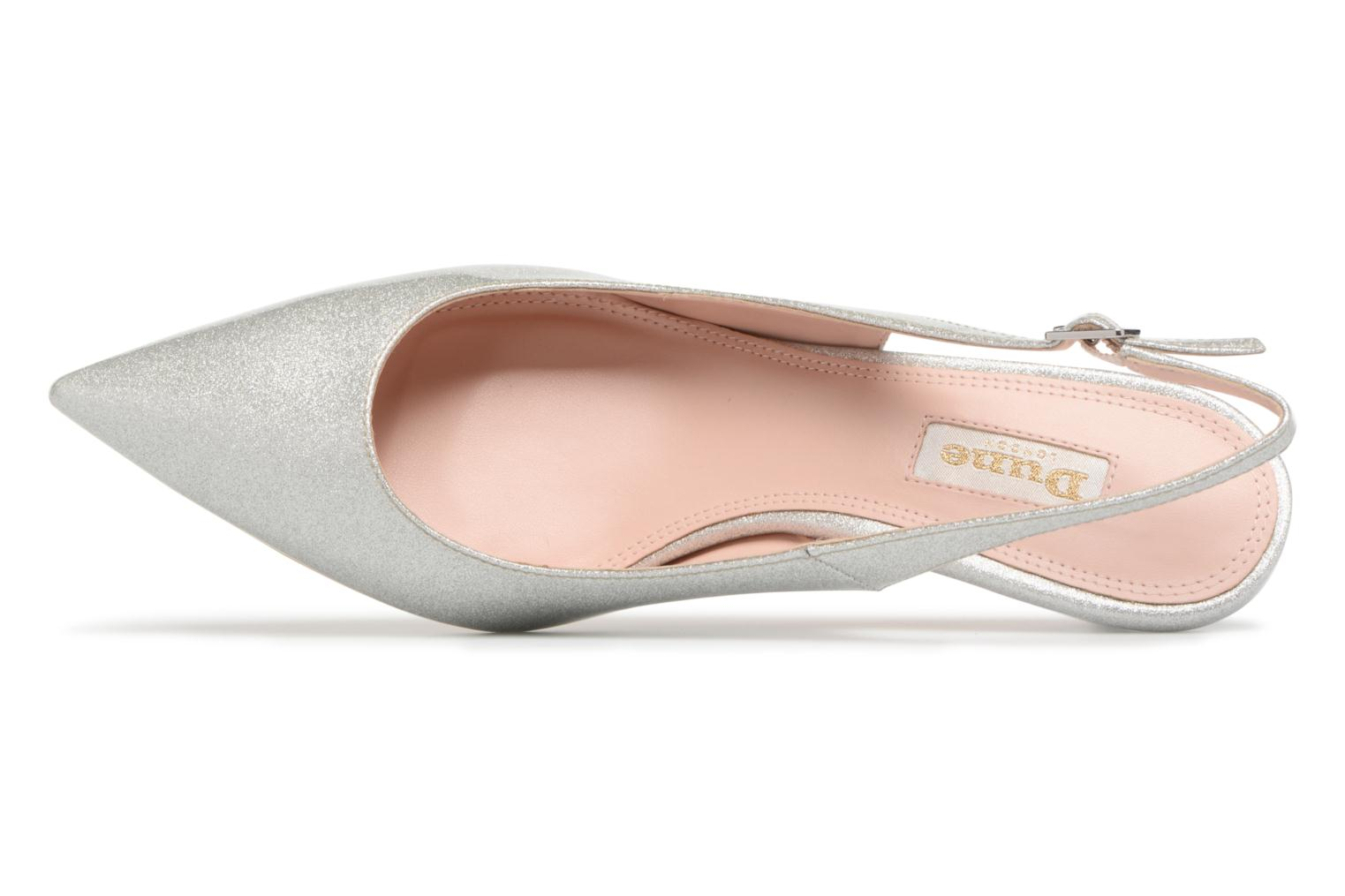 High heels Dune London CASANDRA Silver view from the left