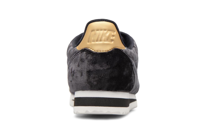 Baskets Nike Cortez Velvet Noir vue droite