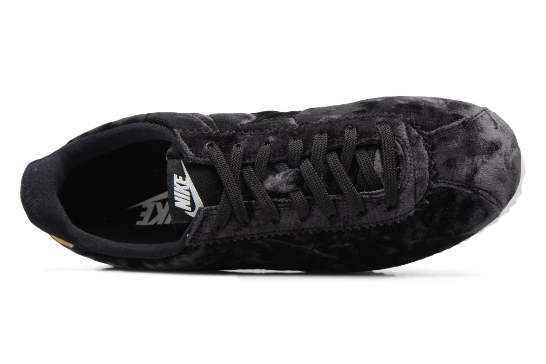 Baskets Nike Cortez Velvet Noir vue gauche