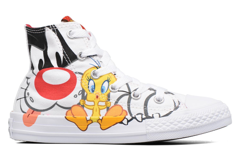 Baskets Converse Chuck Taylor All Star Hi Looney Tunes Blanc vue derrière