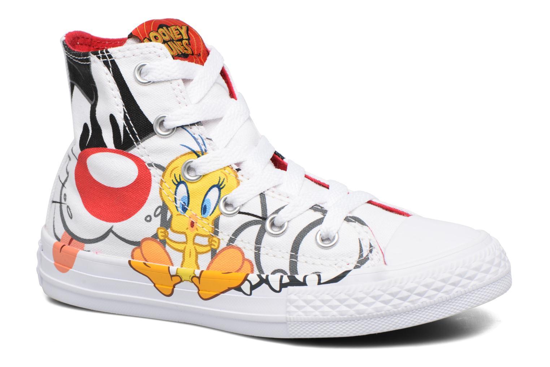 Baskets Converse Chuck Taylor All Star Hi Looney Tunes Blanc vue détail/paire
