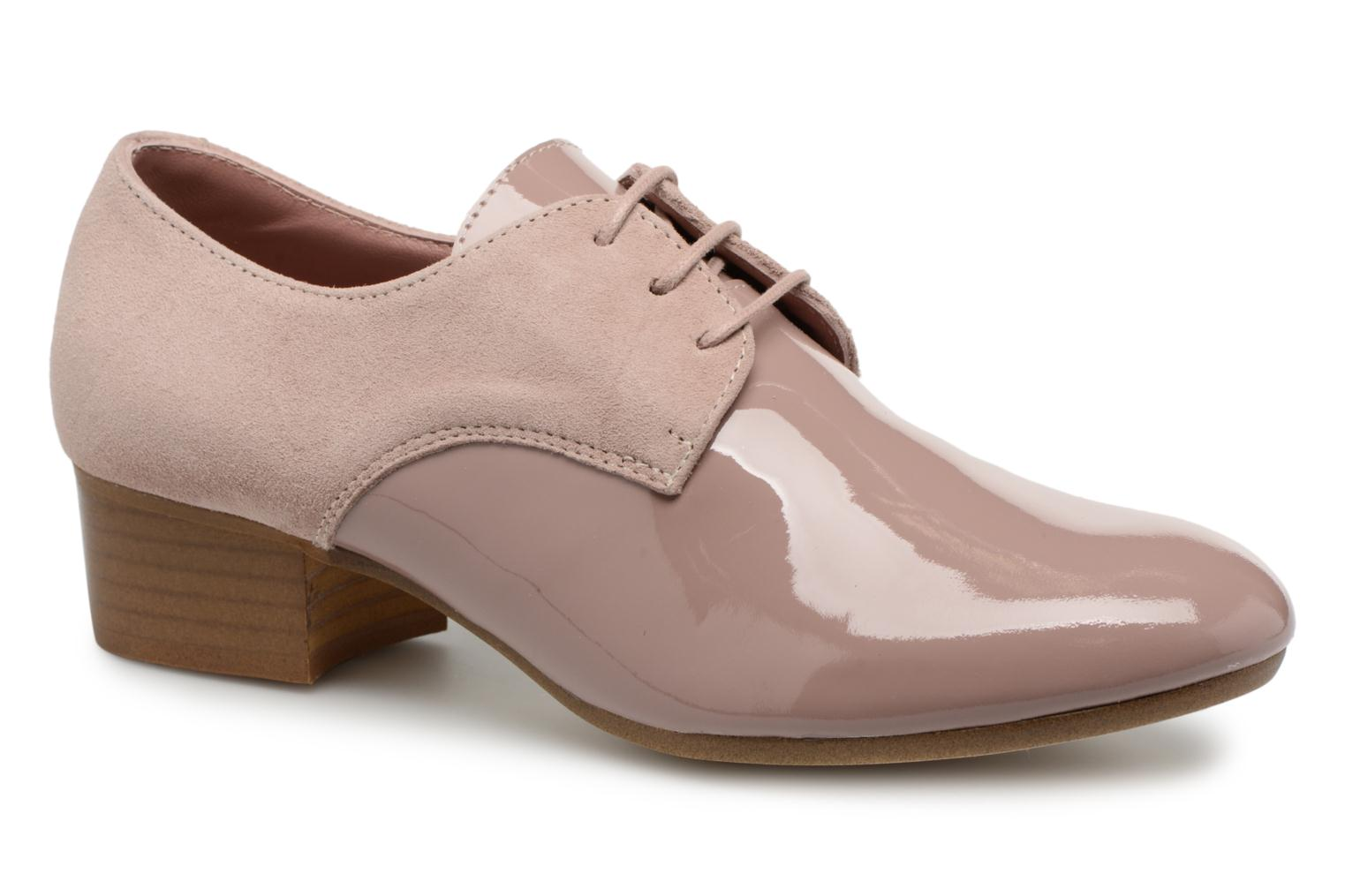 Lace-up shoes Ippon Vintage Chalk farm Pink detailed view/ Pair view