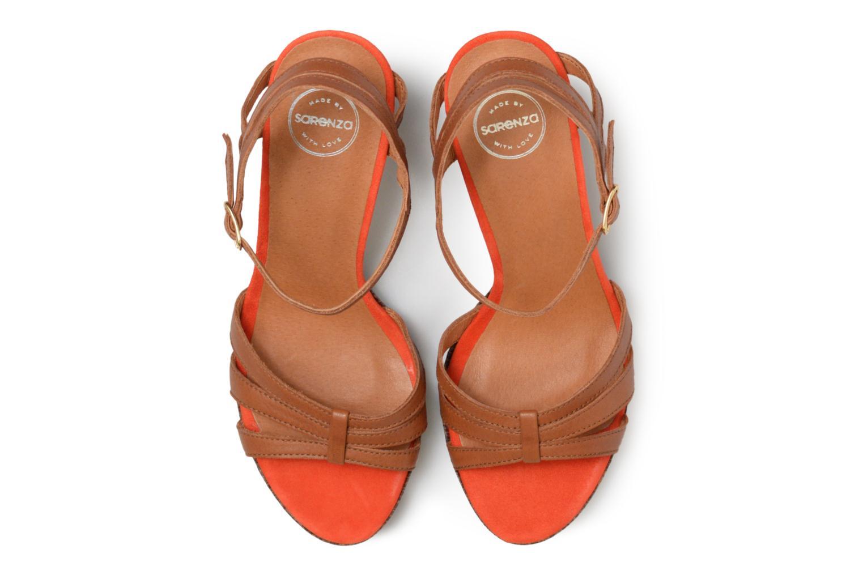 Sandales et nu-pieds Made by SARENZA Carioca Crew Sandales à Talons #7 Marron vue portées chaussures
