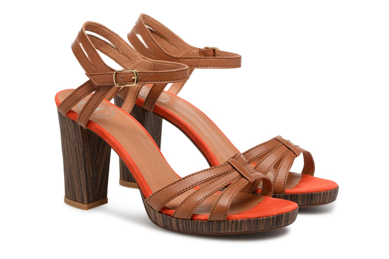 Sandales et nu-pieds Made by SARENZA Carioca Crew Sandales à Talons #7 Marron vue derrière