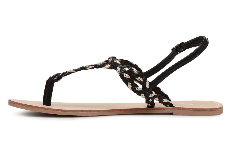Sandales et nu-pieds ONLY MARGIT Noir vue face