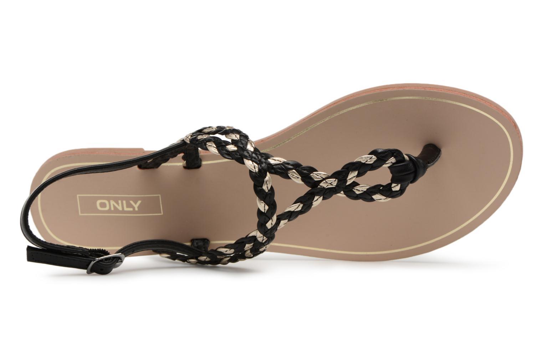 Sandales et nu-pieds ONLY MARGIT Noir vue gauche