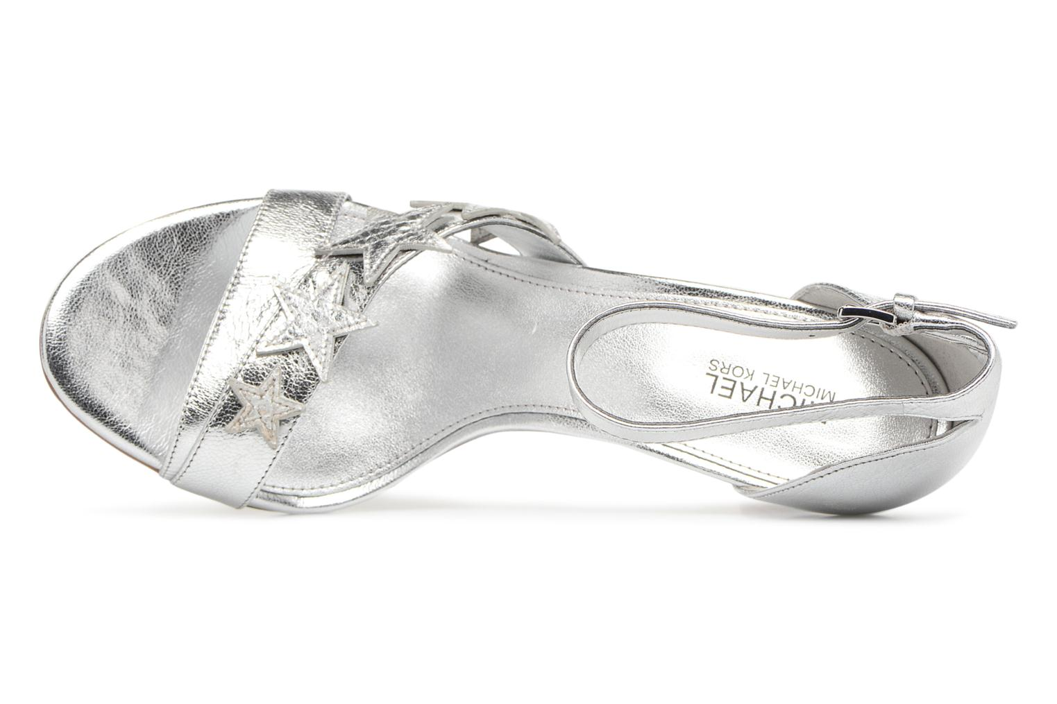 Sandals Michael Michael Kors Lexie Sandal Silver view from the left