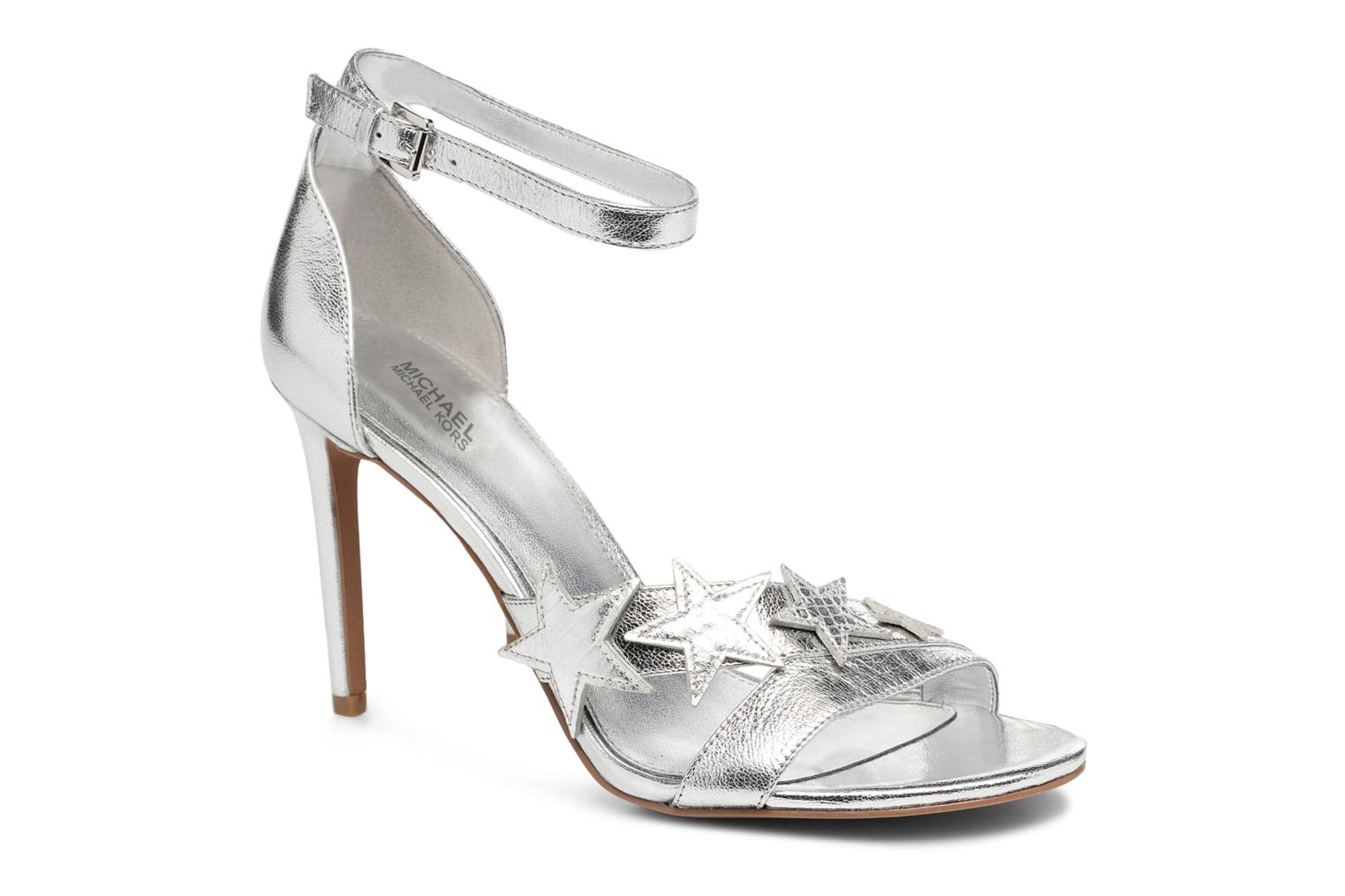 Sandals Michael Michael Kors Lexie Sandal Silver detailed view/ Pair view